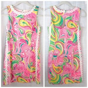Lilly Pulitzer Lace Flamingos Tropical Cotton SZ 2